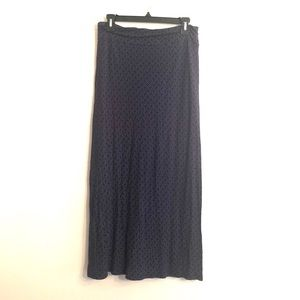 [Joie] Navy Blue/White Pattern Maxi Skirt - Small